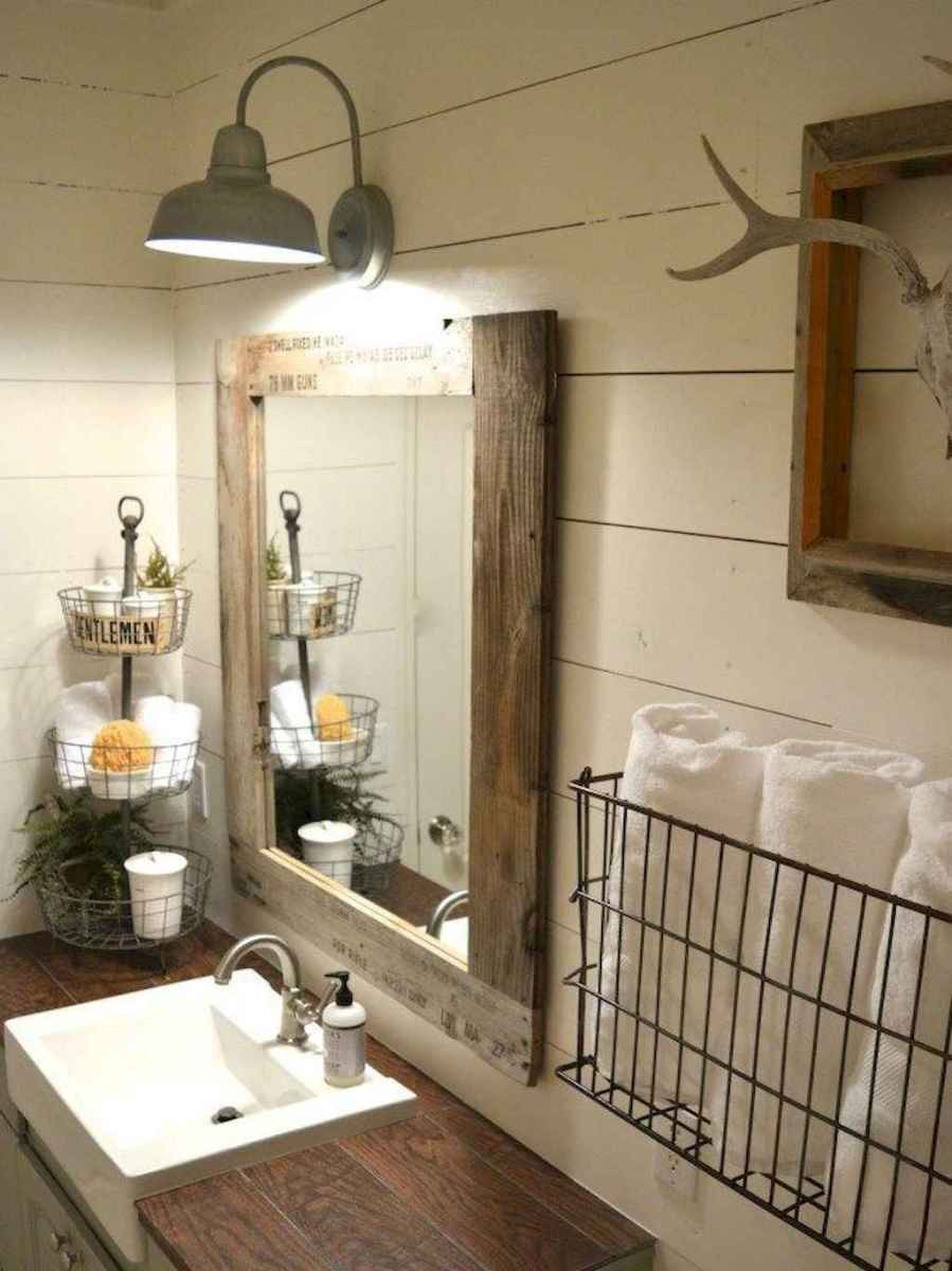 50 Amazing Farmhouse Bathroom Vanity Decor Ideas 20