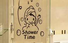 Bathroom Wall Decor Stickers Beautiful Cartoon Print Wall Sticker Wall Walldecor Wallart