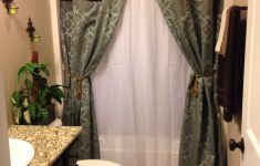 Browning Bathroom Decor Awesome Homemade No Sew Shower Curtains