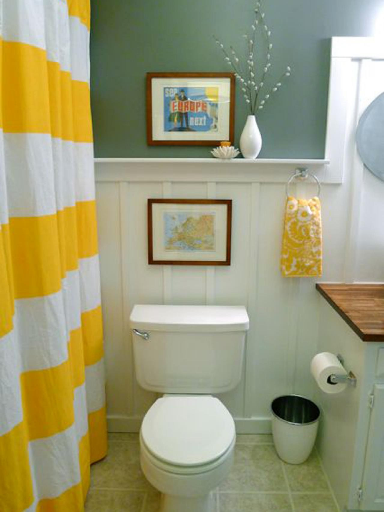 Bathroom Wall Decorating Ideas Small Hallway For Shelves