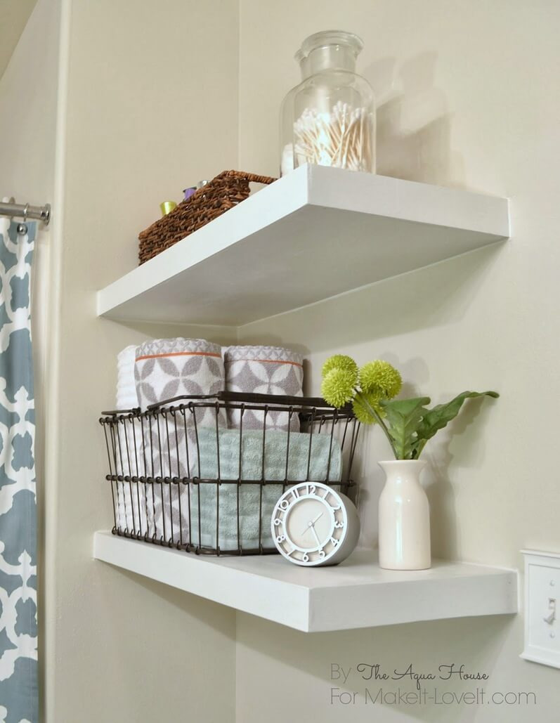 25 diy bathroom shelf ideas homebnc