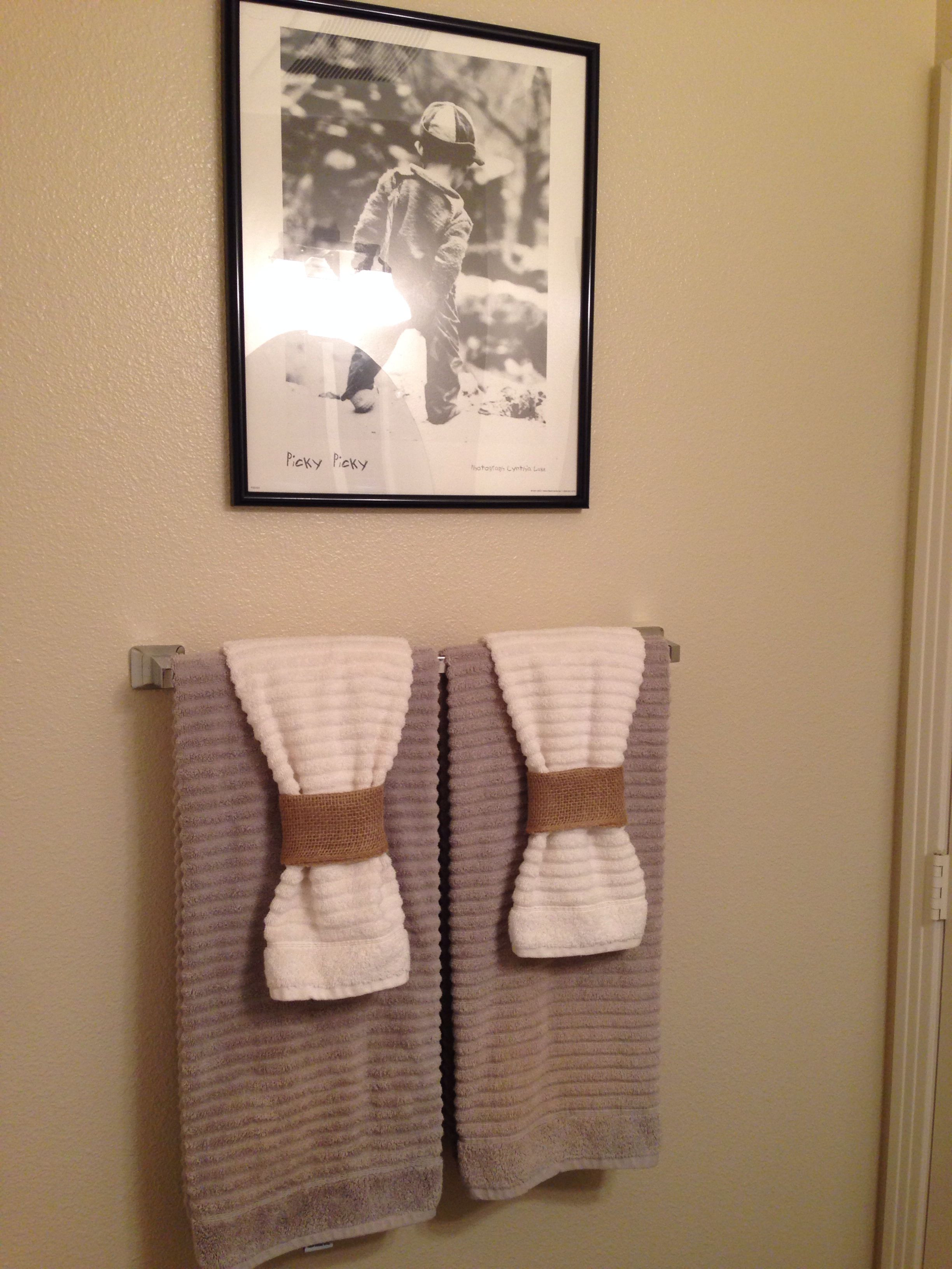 contemporary how to hang decorative towels