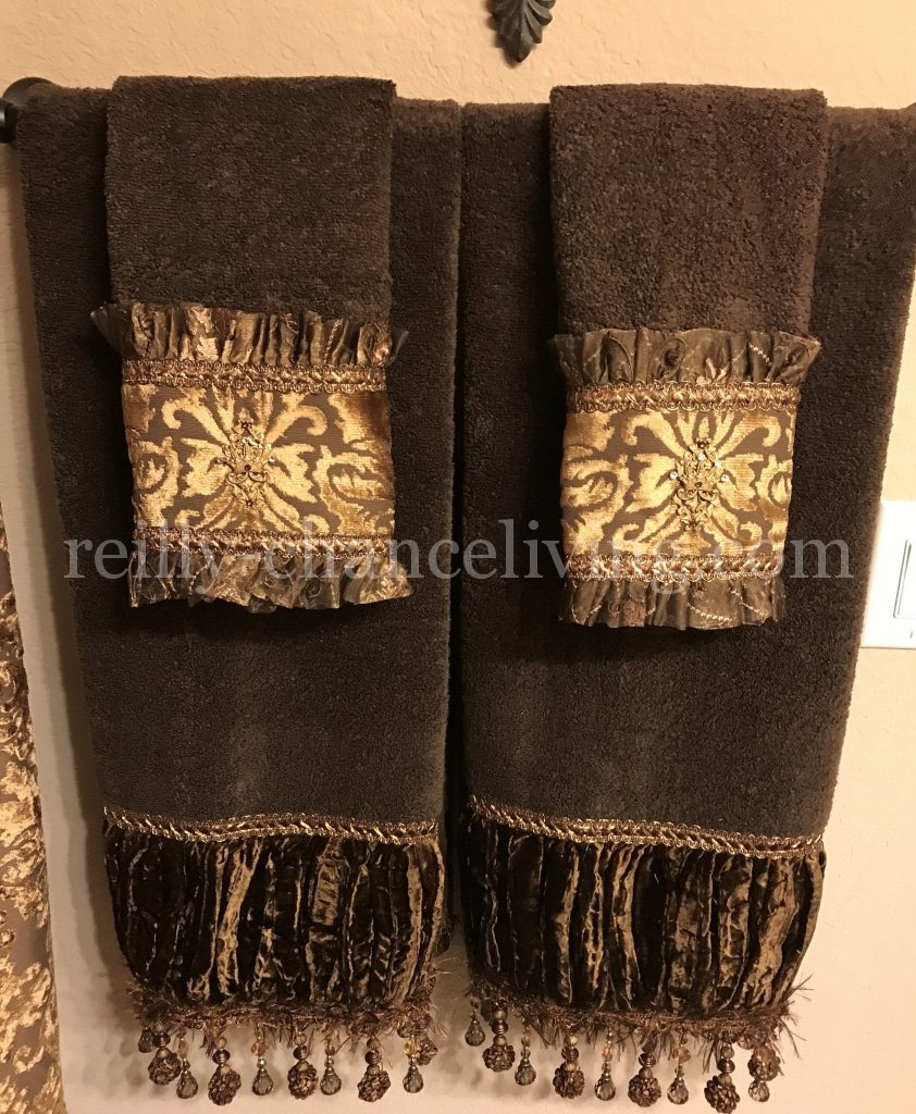 Decorative bath towels old world bathroom decor decorated towels reilly chance 139