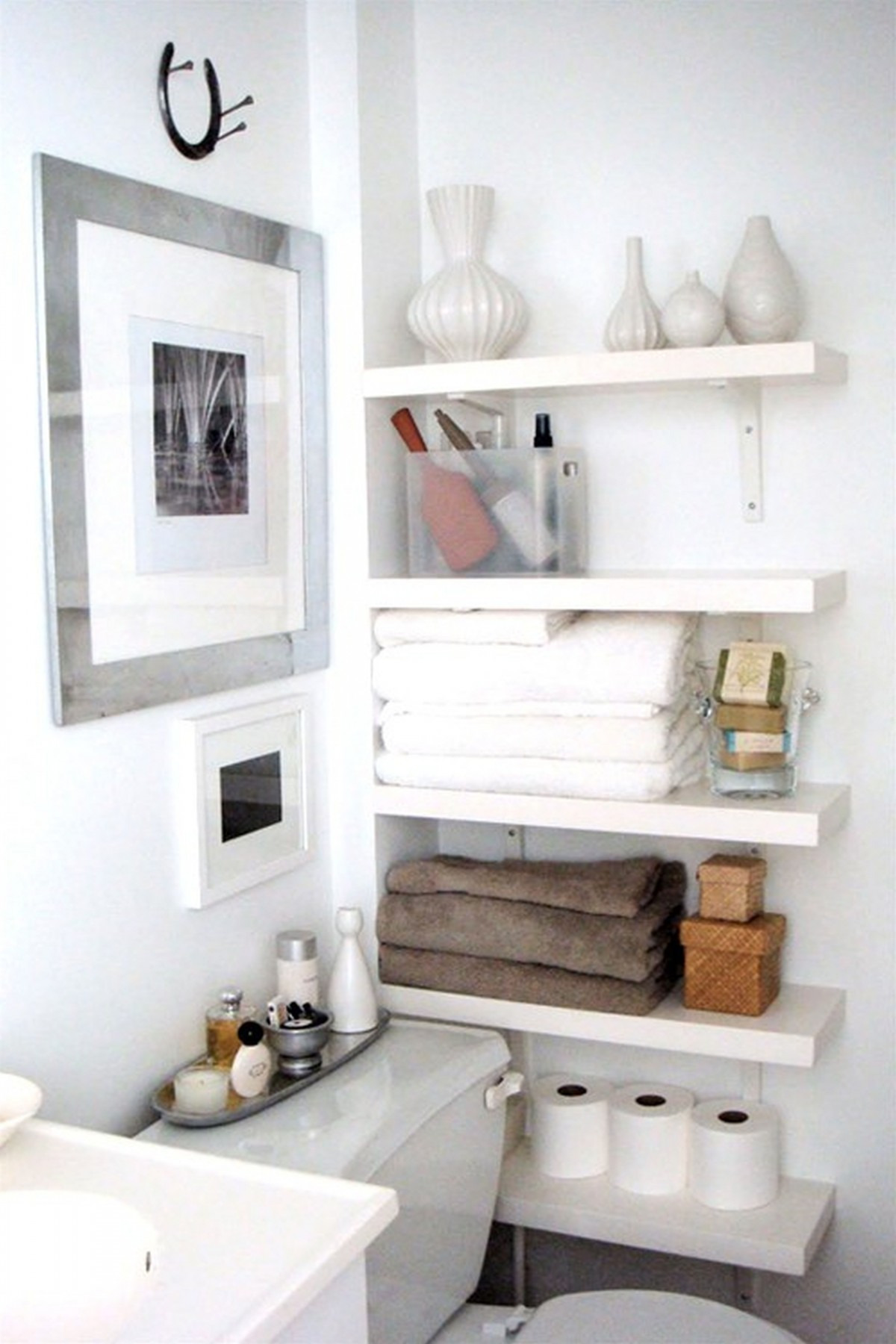 Decorative Wall Mounted And Storage Drawer Wood Shelving Canada
