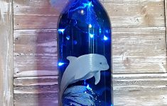 Dolphin Bathroom Decor Lovely Amazon Dolphin Wine Bottle With Lights Painted Gift