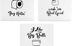 Funny Bathroom Wall Decor New Wooden Funny Bathroom Signs Set Of 3 Cute Humorous Wall Art Each 10 X 8 Inches