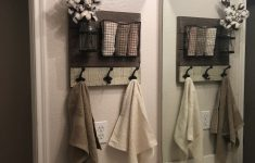 How To Decorate A Bathroom With Towels Elegant Farmhouse Bathroom Wall Organizer And Towel Holder
