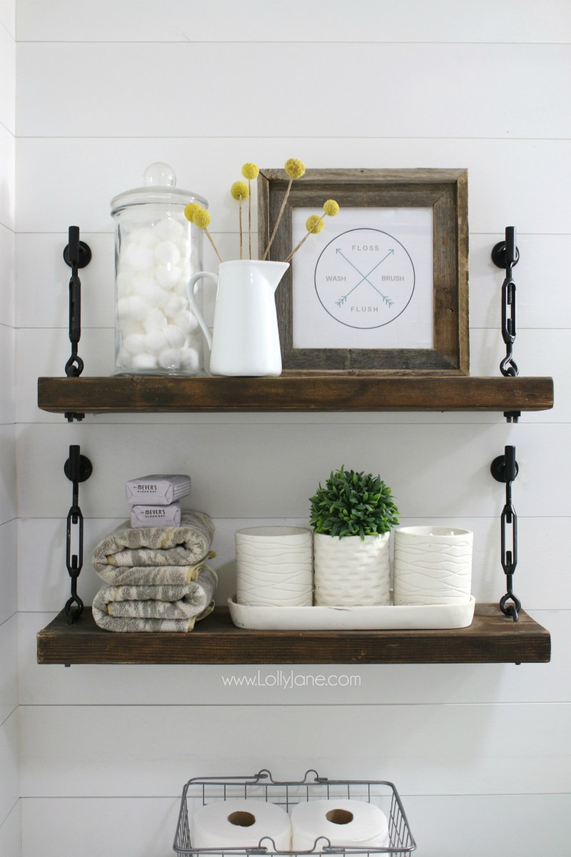 farmhouse shelf tutorial