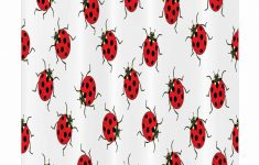 Ladybug Bathroom Decor Fresh Ladybugs Stall Shower Curtain Single Hooks