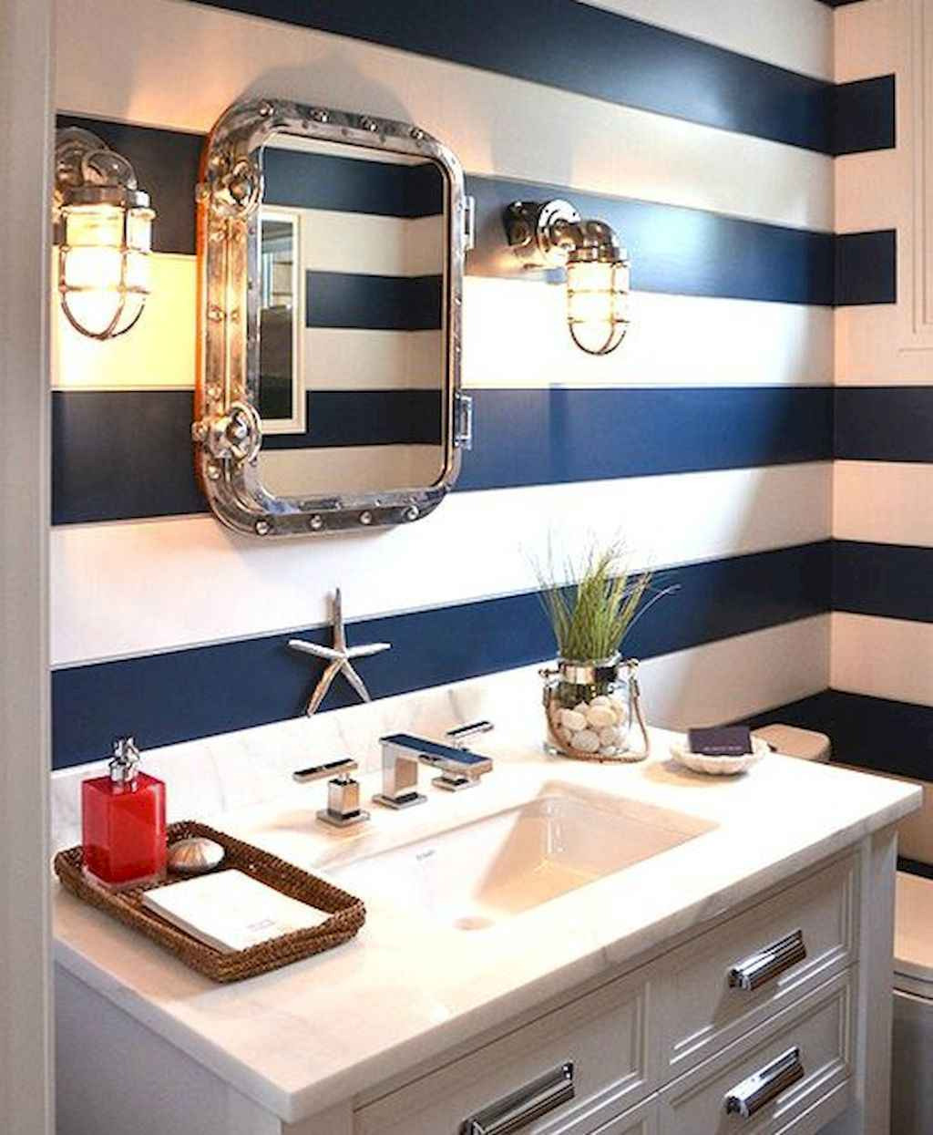 30 Amazing Coastal Nautical Bathroom Remodel Ideas 18