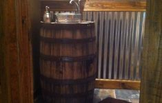 Outhouse Decorations For Bathroom Unique Whiskey Barrel Sink Rustic Bathroom