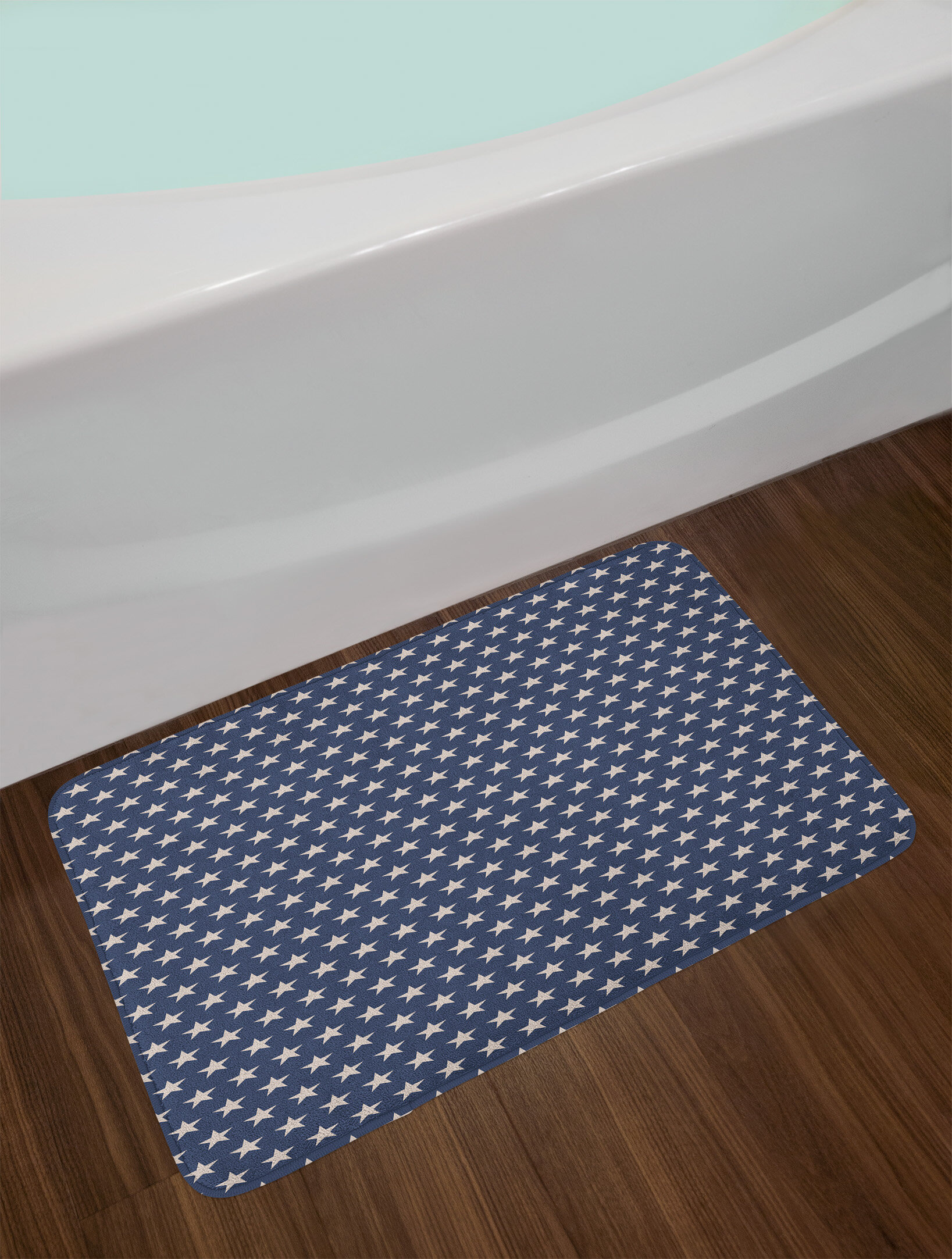 patriotic star bath rug