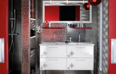 Red Bathroom Wall Decor Inspirational Red Bathroom Wall Decor Round Mounted Double Glass Mirror