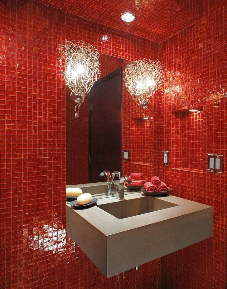Red Bathrooms Decorating Ideas 2021