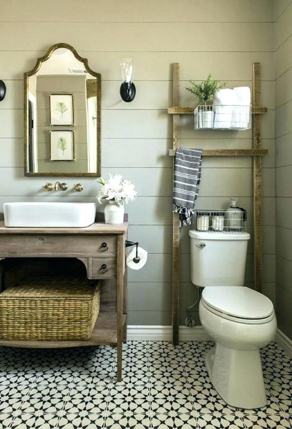 home and interior ideas country decor for small bathroom rustic 958x1409