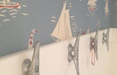 Sailboat Bathroom Decor Elegant My Bathroom With Ralph Lauren Sailboat Wall Covering And