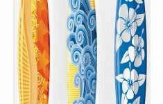 Surfboard Bathroom Decor Unique Surf Stall Shower Curtain Ornate Colorful Surfboards Vocation Fun Water Sports Moving Waves Lifestyle Fabric Bathroom Set With Hooks 36w X 72l