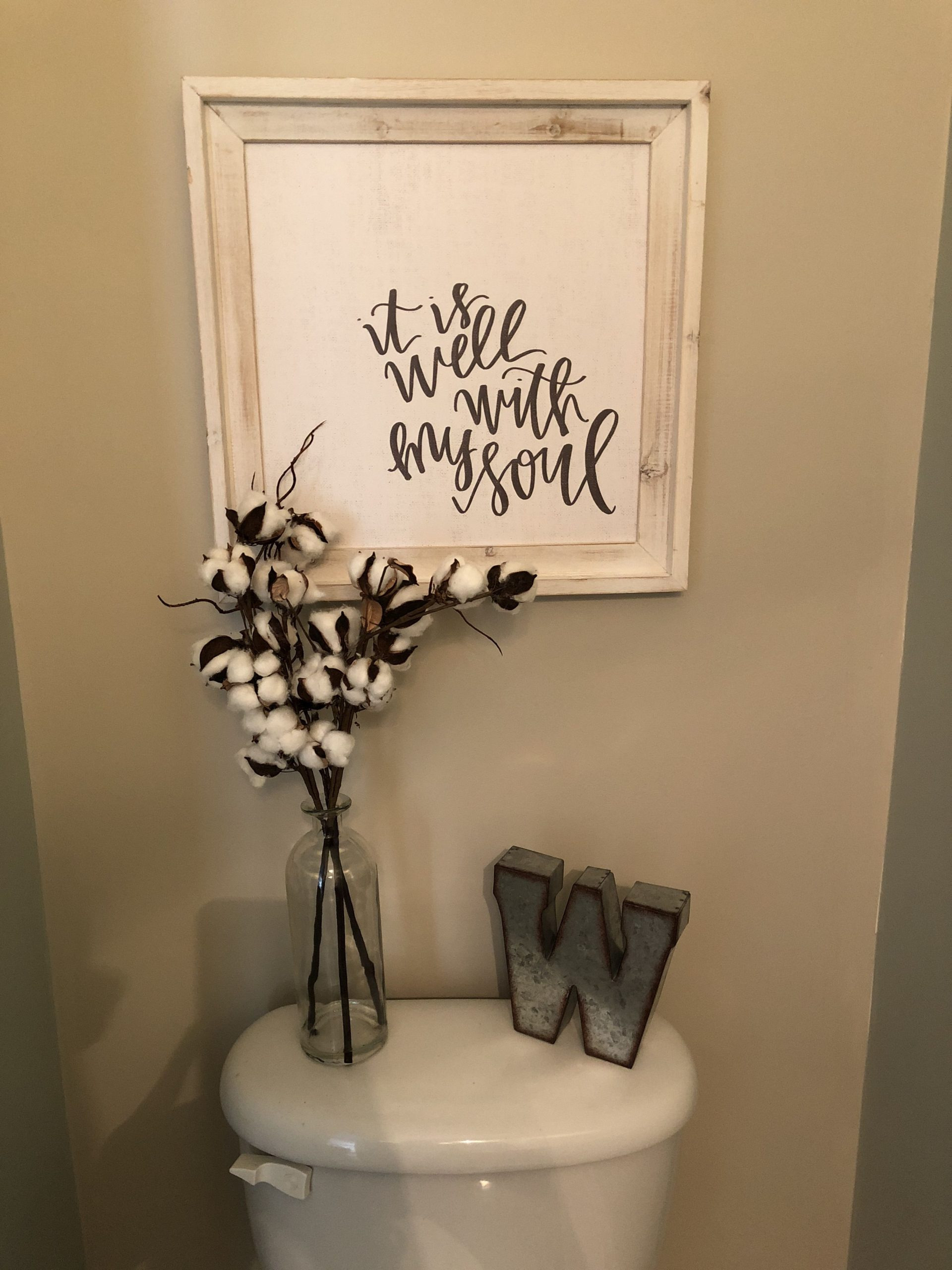Guest Bathroom Wall Decor French Country Flower For scaled