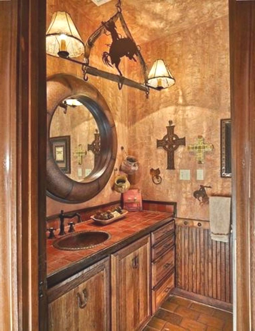 western decor bathroom