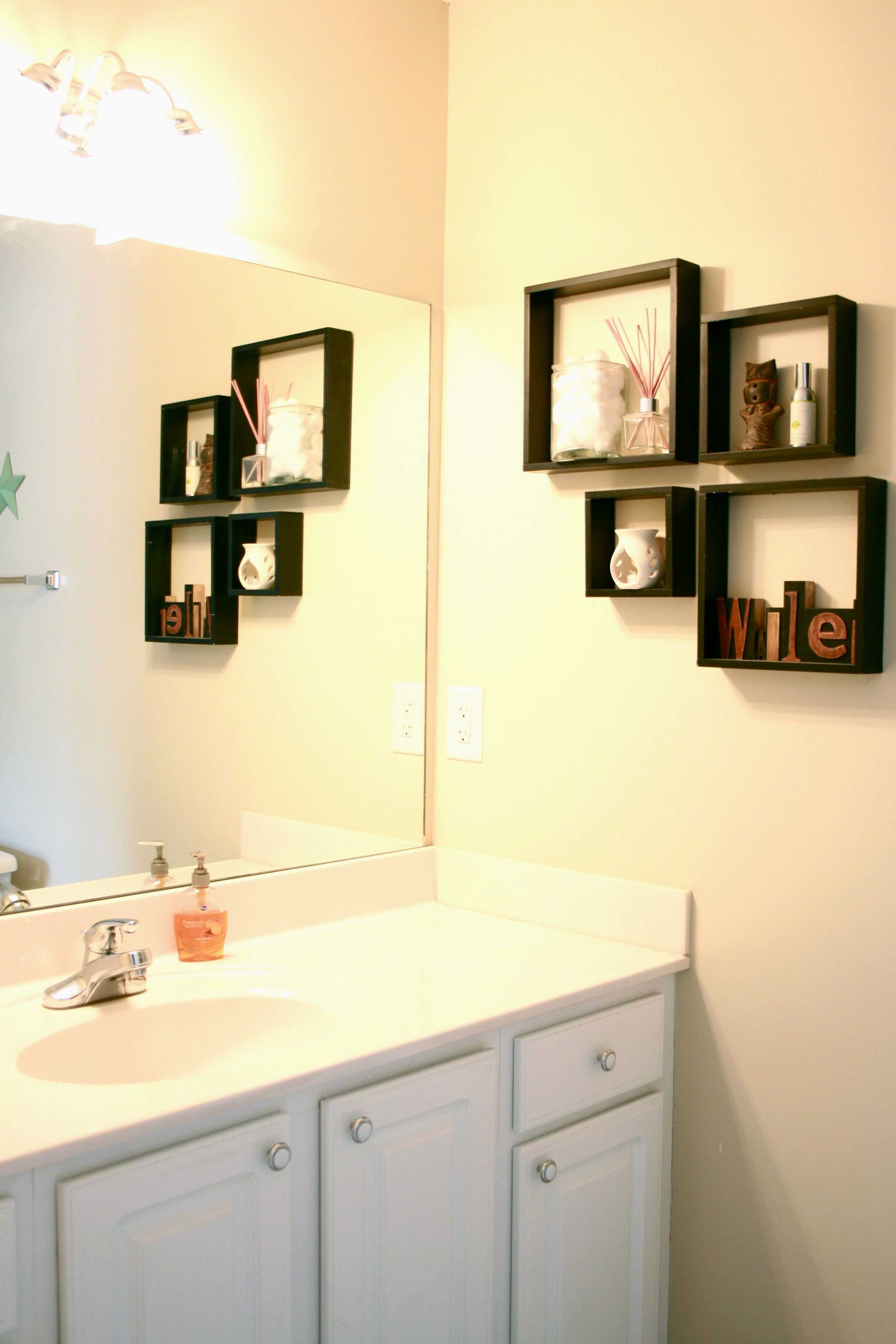 Ideas For A Small Wall Shelves Decorations Bathrooms