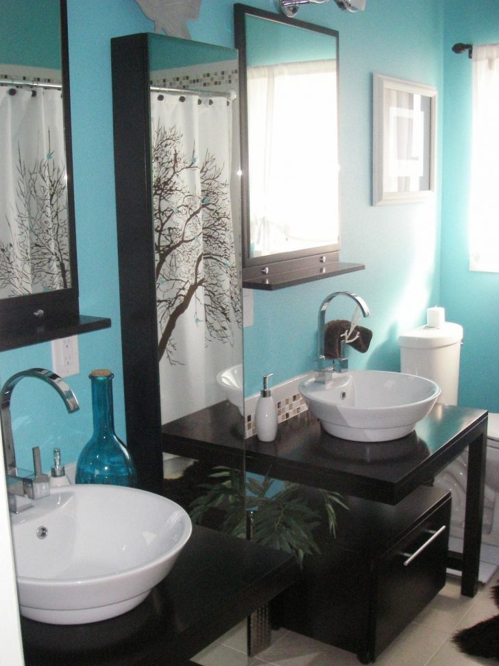 Brown and Turquoise Bathroom Decor 2020