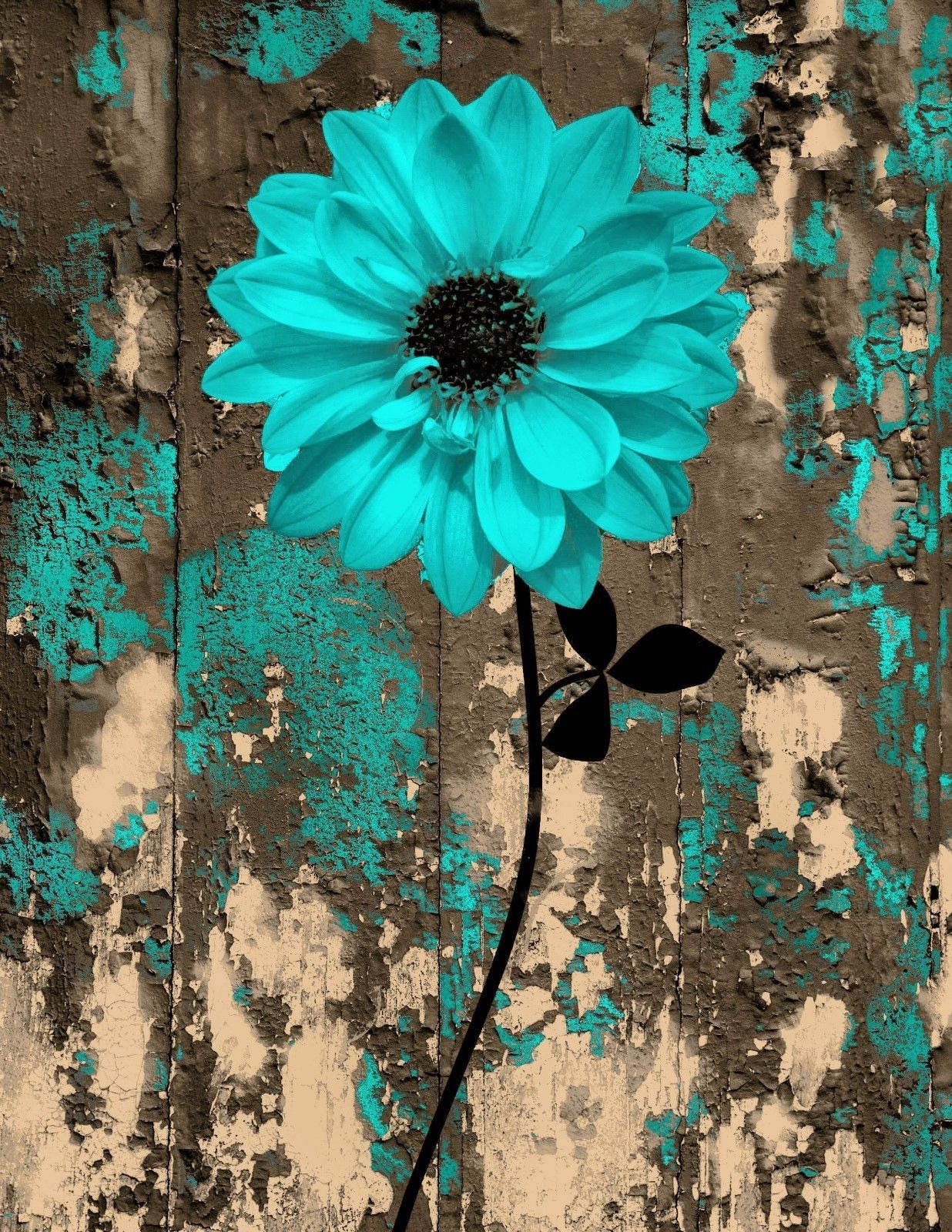 Brown and Turquoise Bathroom Decor Fresh Rustic Teal Brown Floral Bedroom Bathroom Wall Art Home