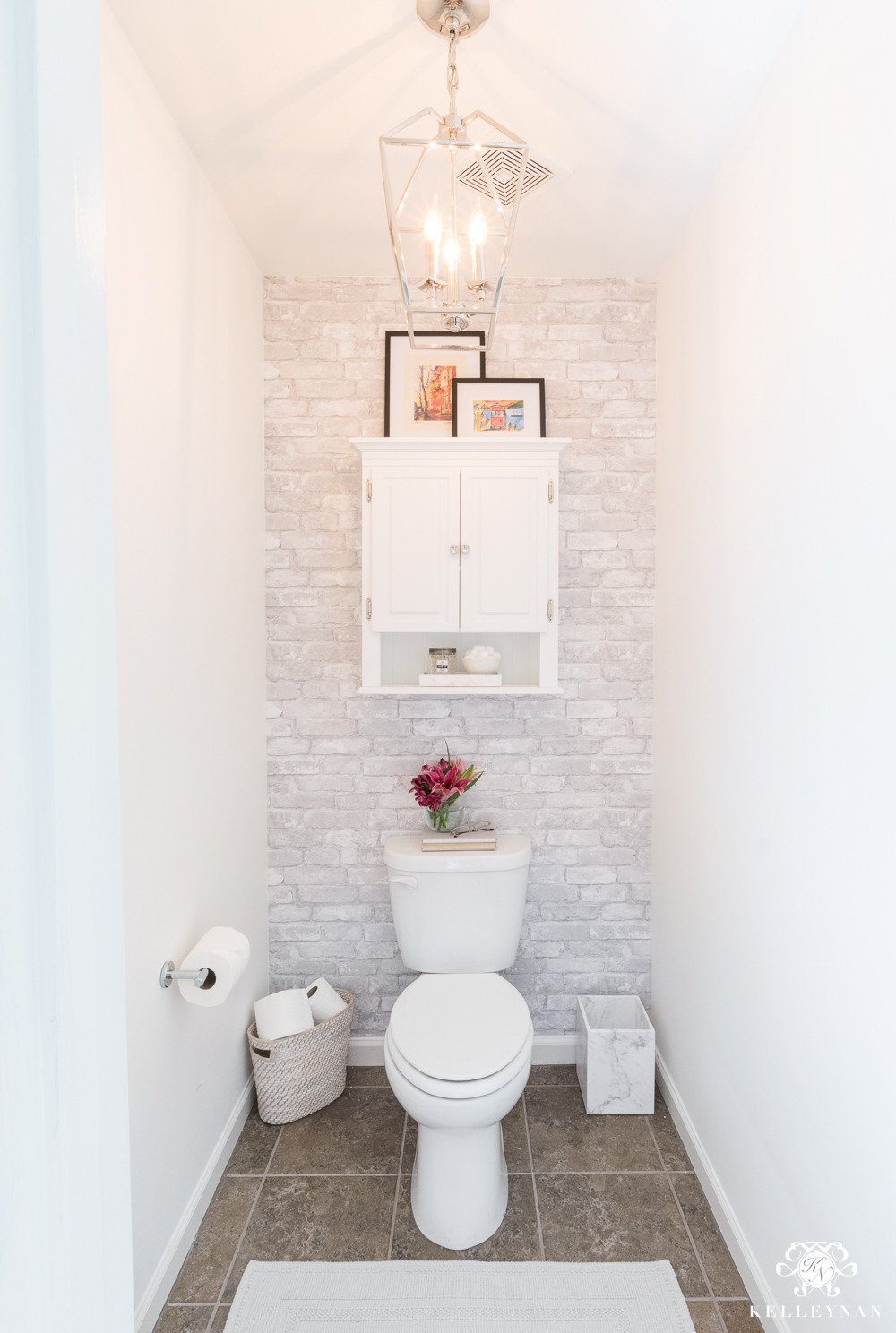 Cheap Ways to Decorate A Bathroom Beautiful toilet Room Makeover Reveal and Clever Bathroom Storage