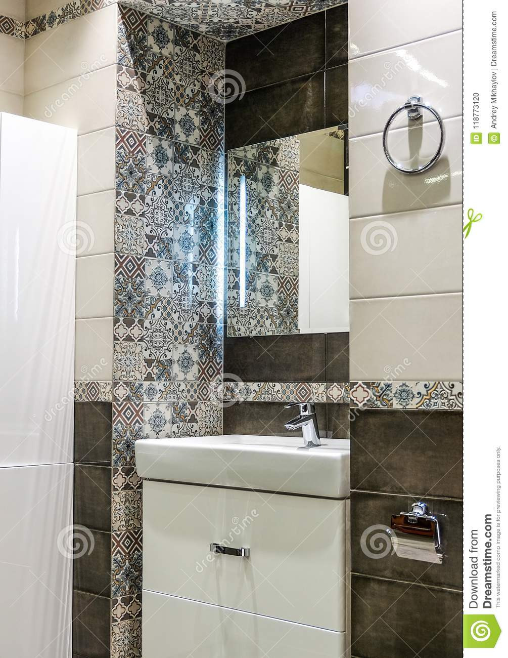 Decor Tiles for Bathroom Wall Inspirational Wall Decoration with Ceramic Tiles In the Bathroom Stock