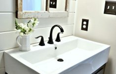 Decorated Bathroom Sinks Elegant Farmhouse Powder Room Reveal