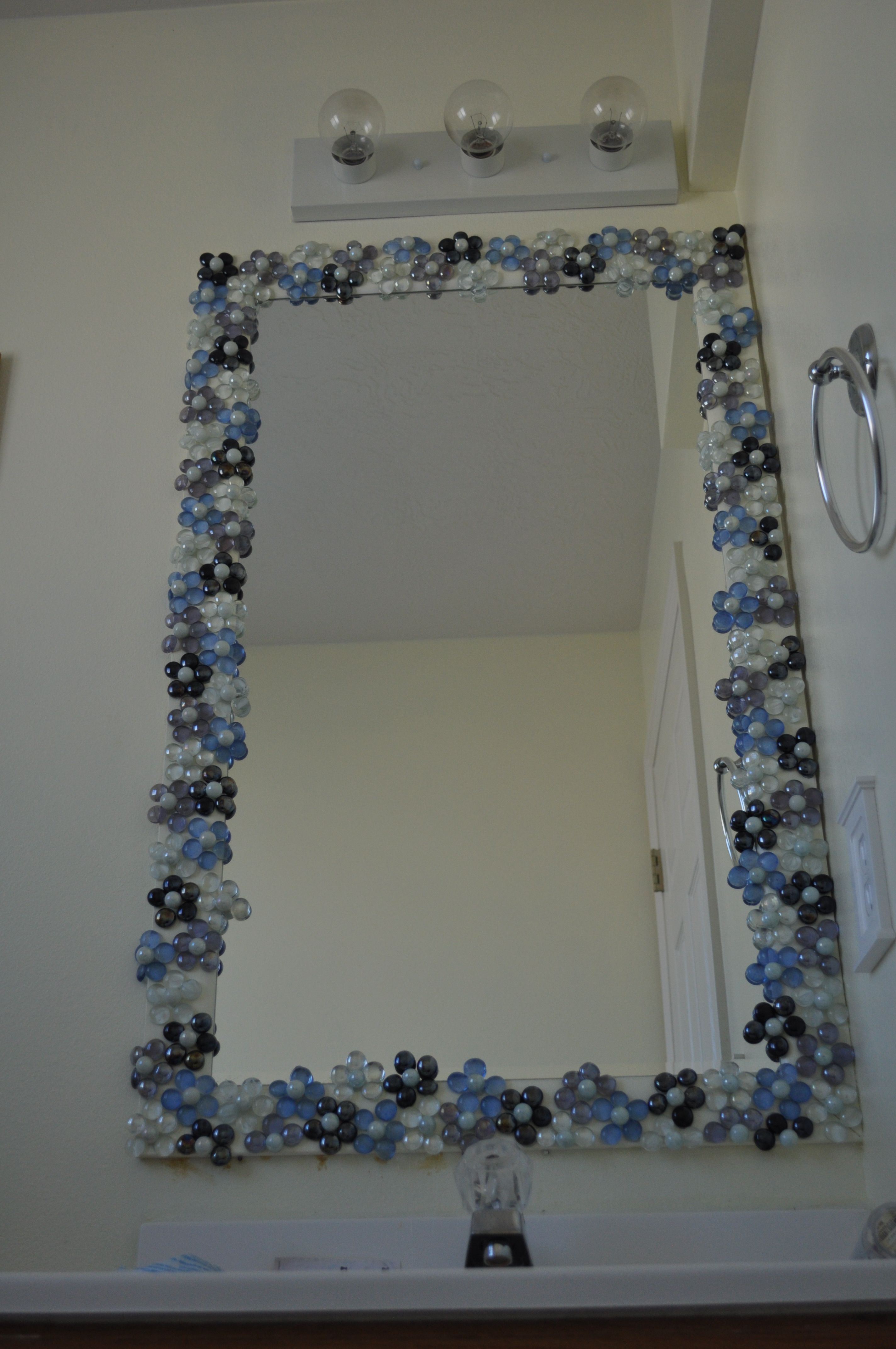 Decorating Bathroom Mirrors New Glass Gems with Pearl Marble Centers to Dress Up A Bathroom