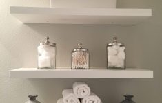 Decorating Ideas for Bathroom Shelves Lovely Bathroom Shelves Modern Clean White and Grey Added