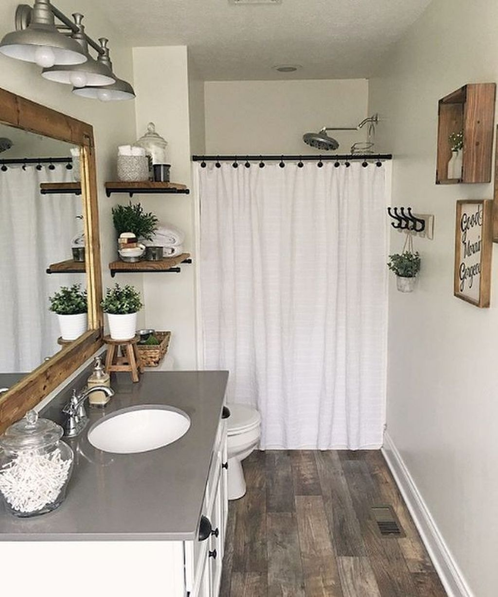 Decorating Ideas Small Bathrooms Awesome 30 Popular Farmhouse Small Bathroom Decorating Ideas