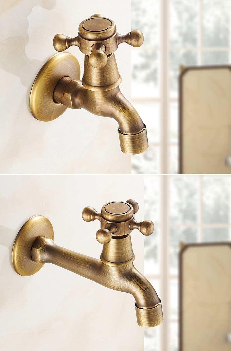 Decorative Bathroom Faucets Fresh Us $12 95 Off Antique Brass Wall Mount Single Faucet Bathroom Accessories Outdoor Sinks for Gardening Tap Decorative Washing Machine