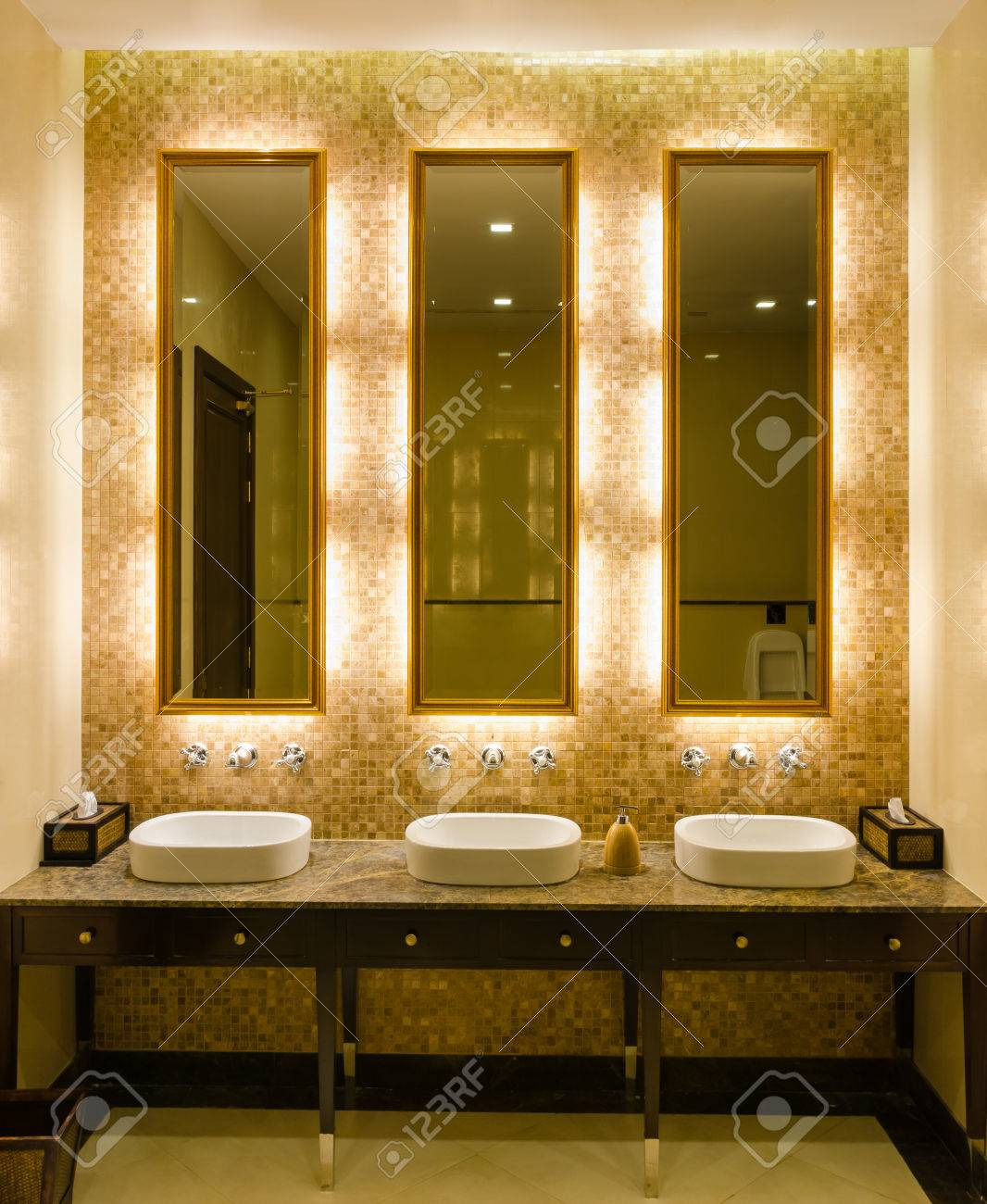 Decorative Bathroom Pictures New View Modern Style Interior Design Of Decorative Gold Mirror Frame