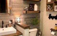 Decorative Ideas For Bathrooms Lovely 59 Best Farmhouse Wall Decor Ideas For Bathroom Ideaboz