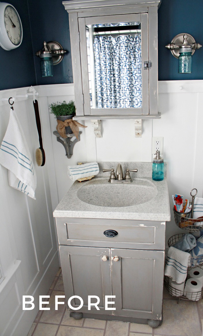 bathroom vanity before