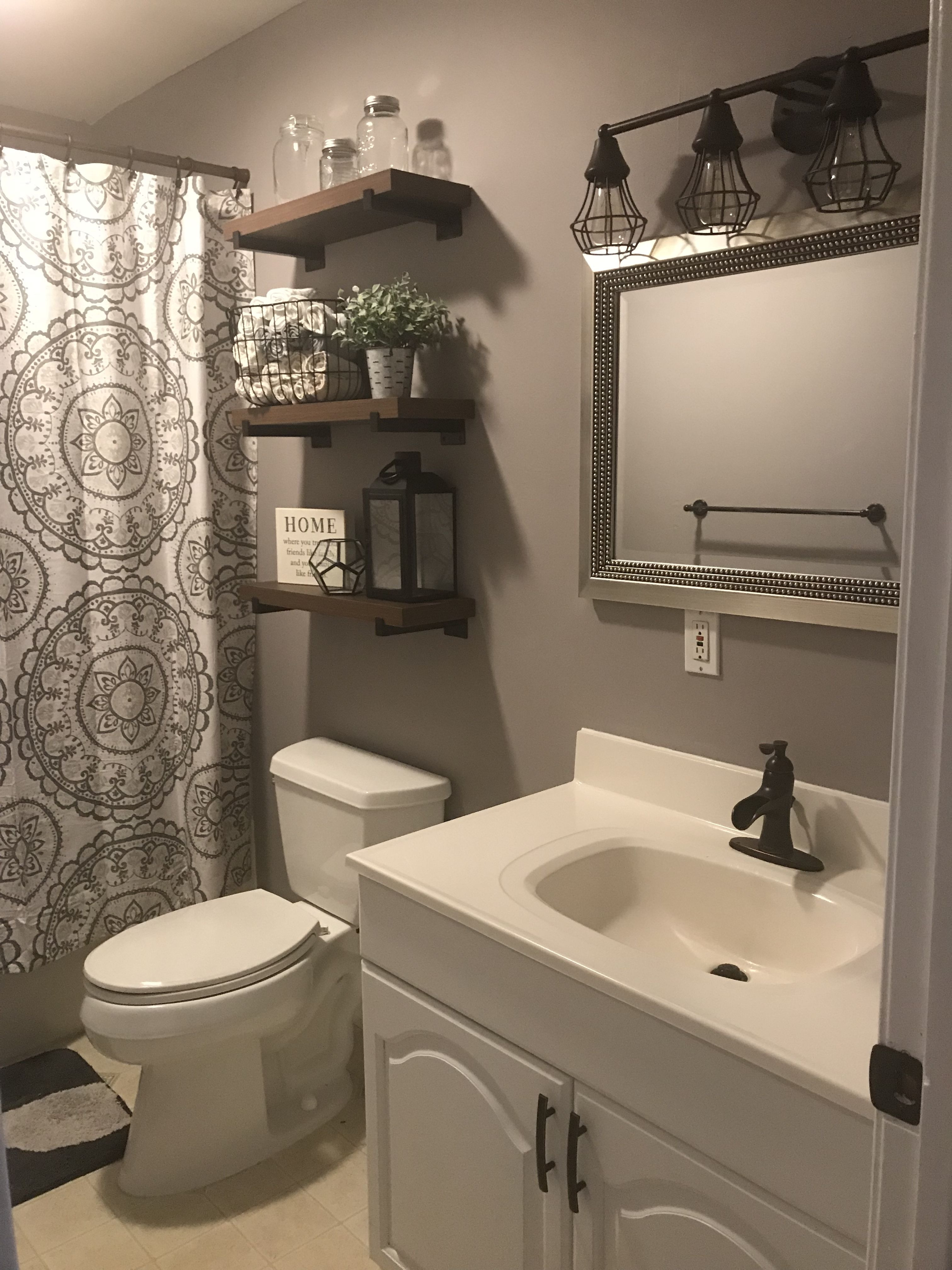 How Decorate A Small Bathroom Inspirational Our Updated Bathroom Decor In 2019