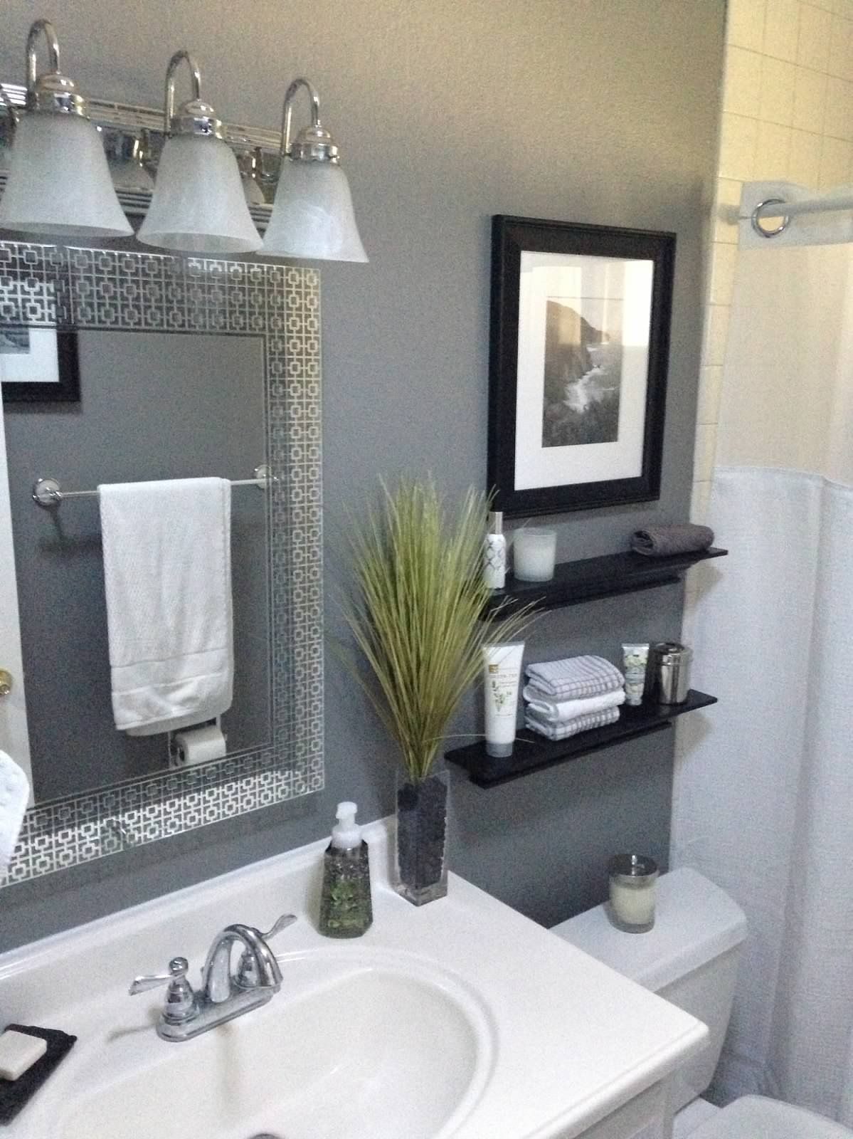 ideas to decorate small bathroom