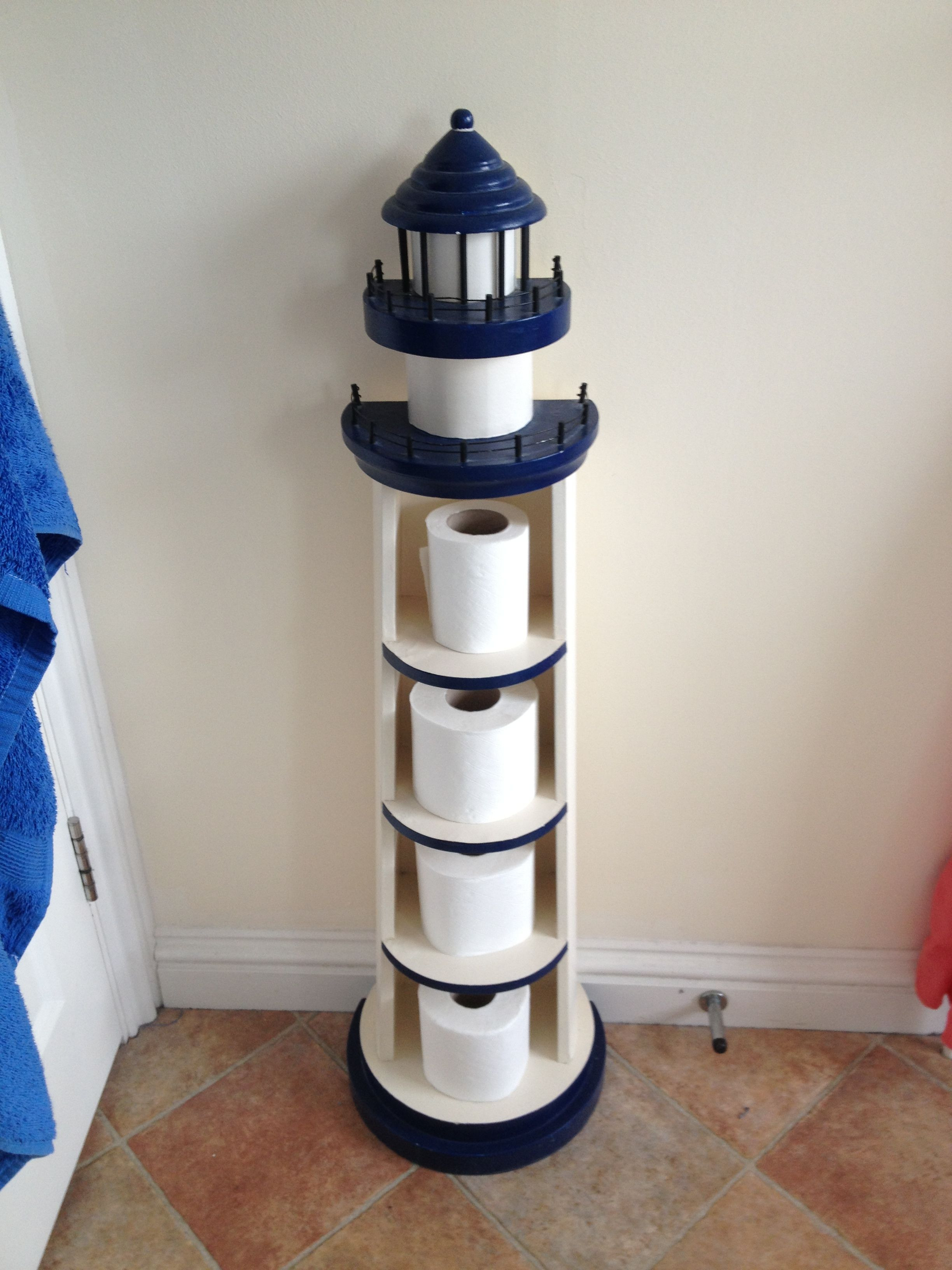 Lighthouse Decor for Bathroom Elegant Lighthouse toilet Paper Roll Holder What A Fun Idea Tried