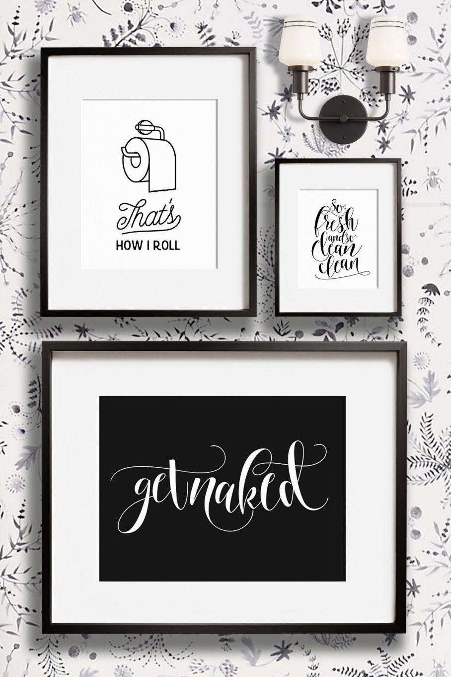 ative Metal Wall Art Black And Bathroom Quotes 908x1362