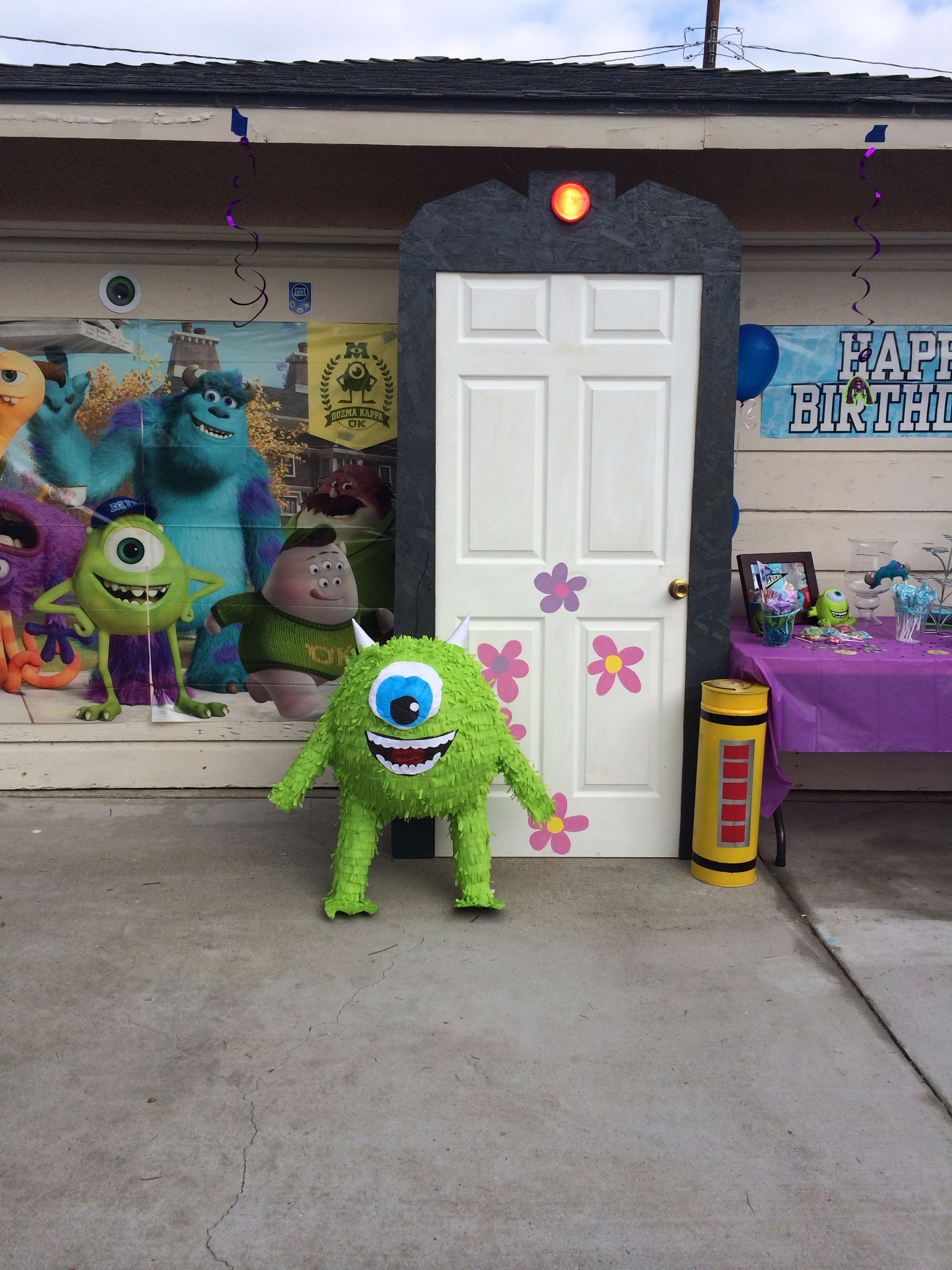Monsters Inc Bathroom Decor Best Of Monsters Inc Party Boo S Door Can Make From Paper
