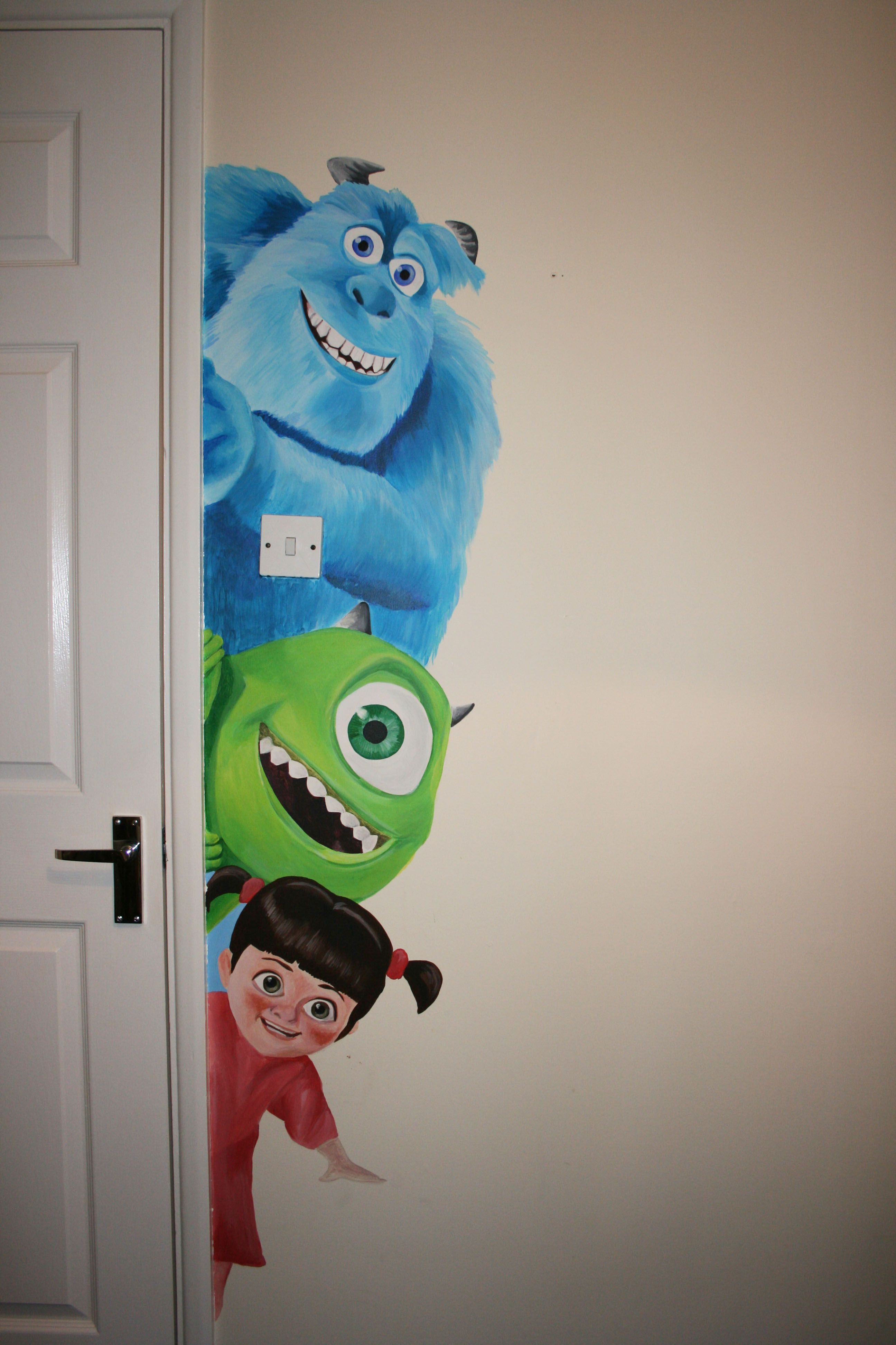 Monsters Inc Bathroom Decor Unique Monsters Inc Wall Mural Google Search