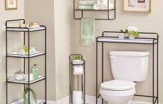 Northwoods Bathroom Decor Luxury Farmhouse Enamel Look Bathroom Storage In 2020