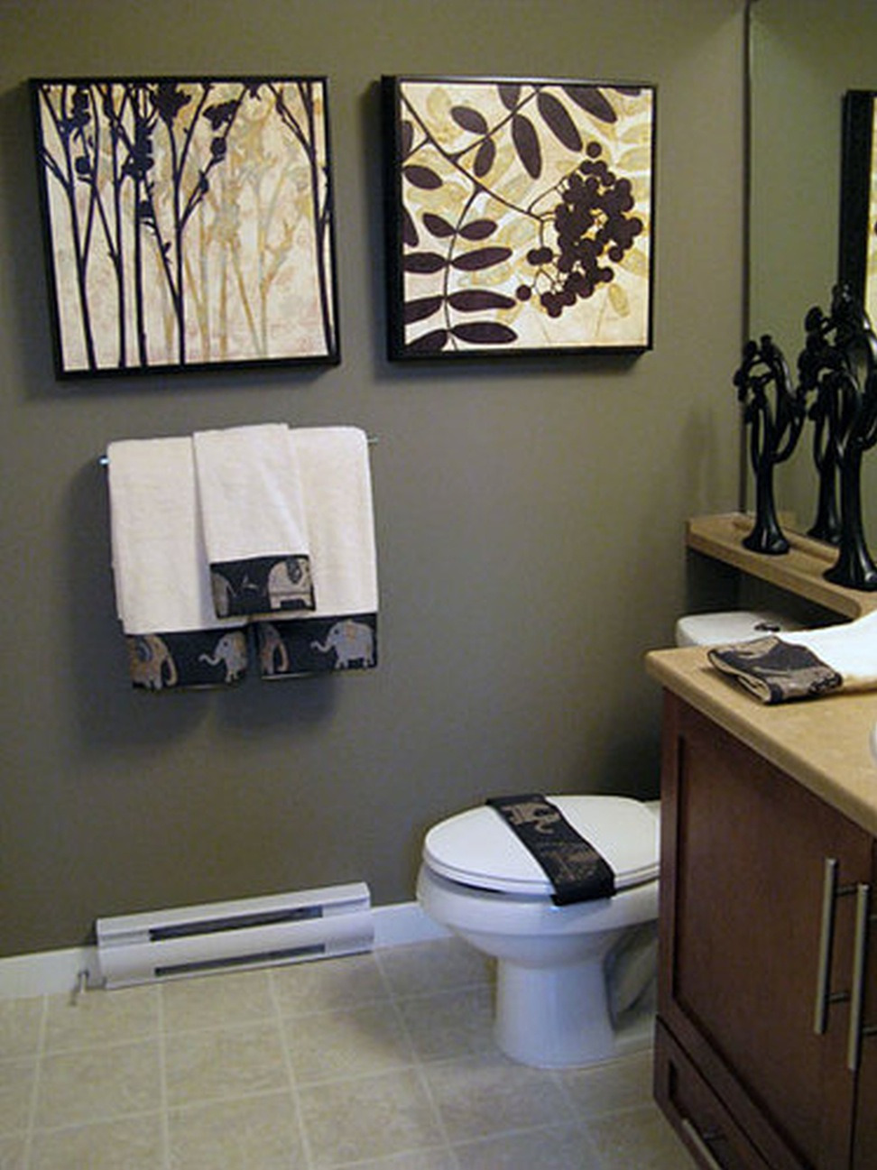 Office Bathroom Decorating Ideas Beautiful Modern Bathroom with Statement Wallpaper 0 Small Ideasrating