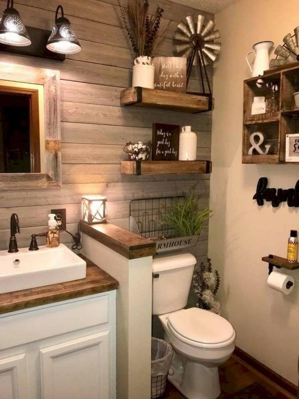 Picture for Bathrooms Decorations Inspirational 50 Stunning Rustic Farmhouse Bathroom Decorating Ideas 9