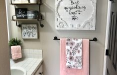 Pink And Grey Bathroom Decor Beautiful I Went With Light Walls And Splashes Of Pink In This Semi
