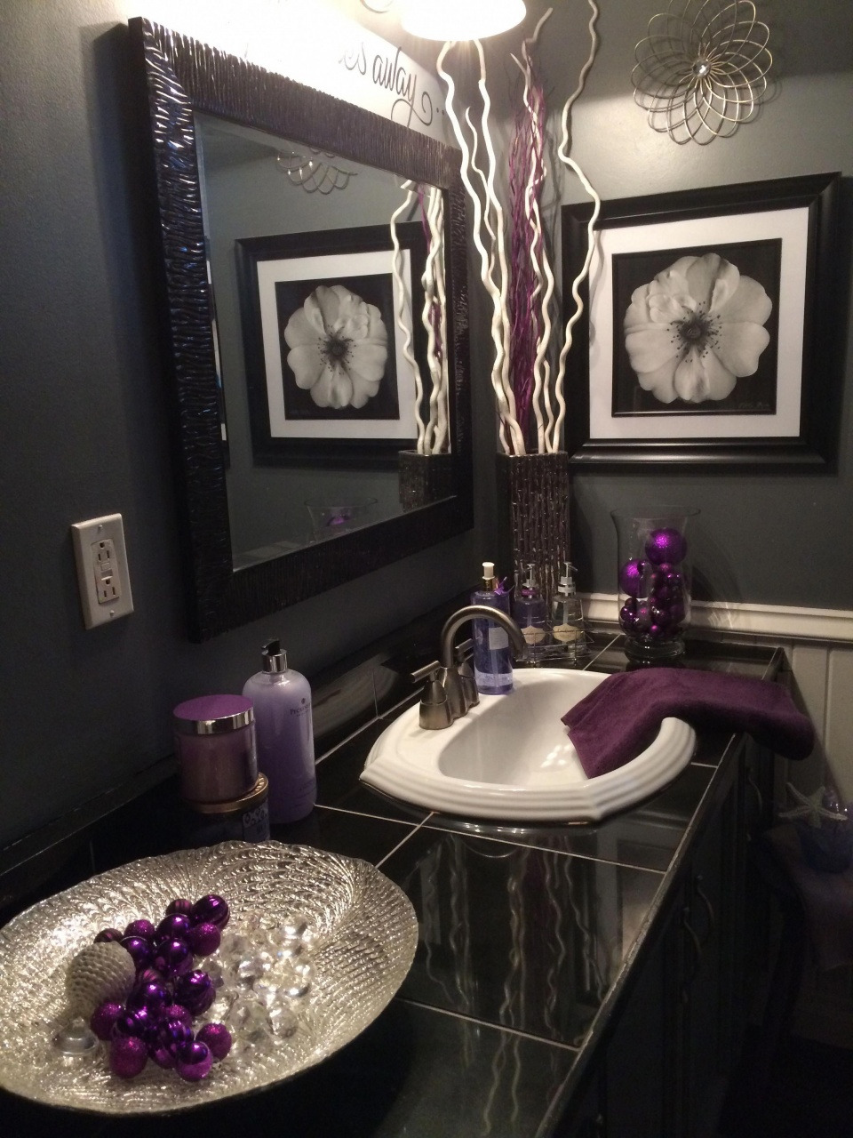 purple and silver bedroom decor black and grey bathroom with lavender accents from purple and silver bedroom decor