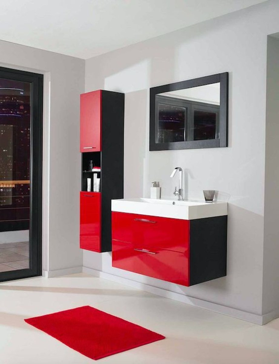 Relaxing Red Bathroom Decor Ideas 02
