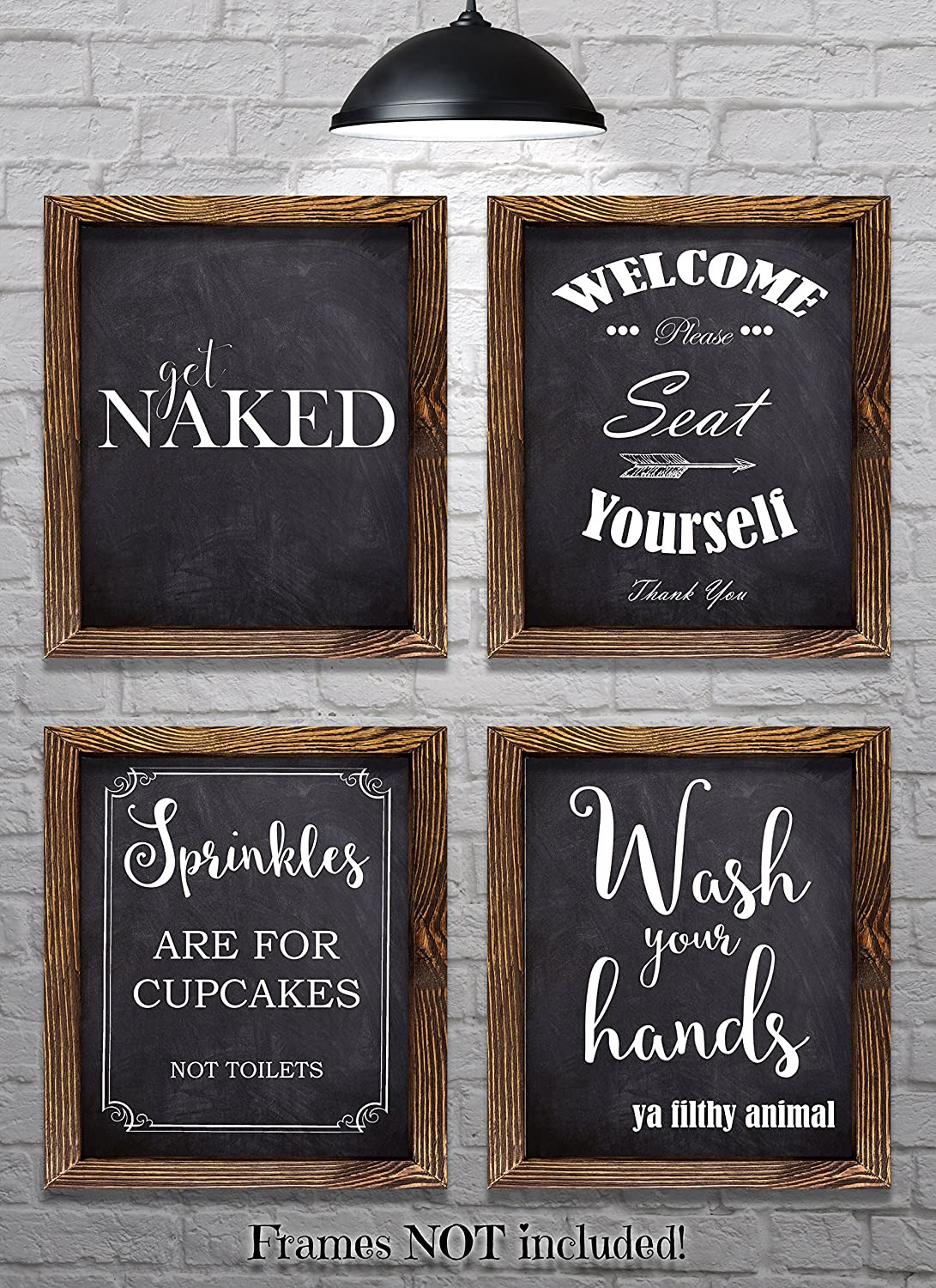 """Wall Decor for the Bathroom Best Of Bathroom Wall Decor Bathroom Sayings and Phrases Art Prints Set Of Four 8""""x10"""" Prints Great Home Decor Gift Idea Set 2"""