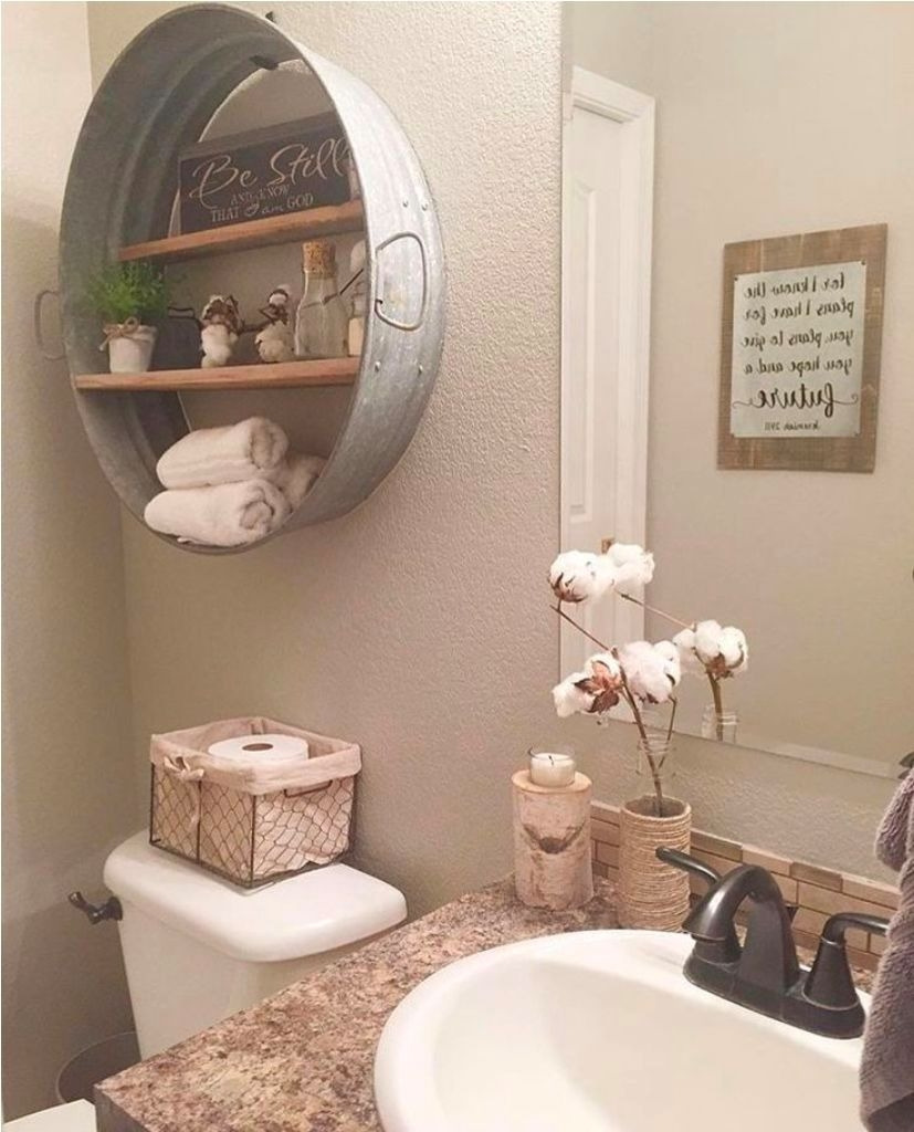 Wall Decorating Ideas for Bathrooms Beautiful Beige Wall Color with Antique Decor for Elegant Bathroom How